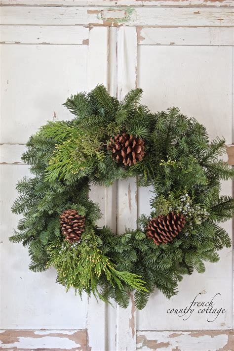 simple christmas wreaths french country cottage