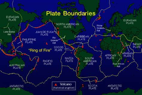 plate boundaries map plate tectonics ferrebeekeeper