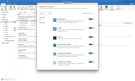 Mac Ad In by Outlook 2016 Ondersteunt Touch Bar Macbook Pro En Add Ins