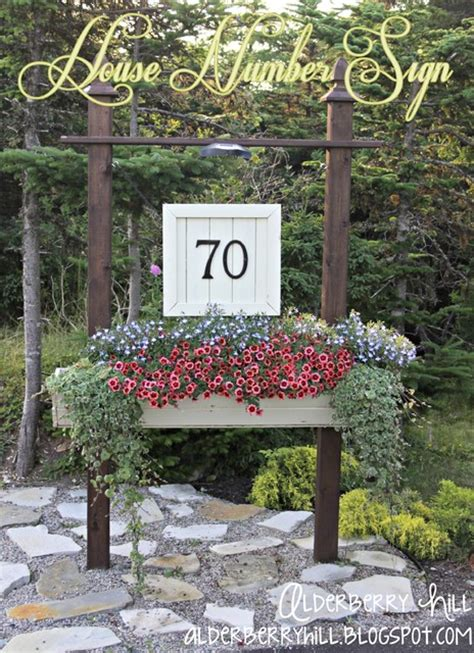 Garden Of Number Diy House Number Sign Traditional Outdoor Products