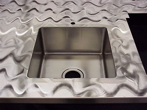 custom stainless steel countertops with brushed 4