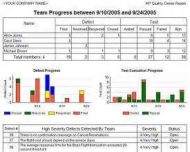 team progress report template reliable business reporting inc hp quality center