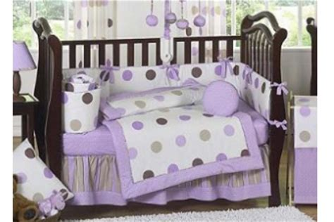 Purple And Brown Modern Polka Dot Baby Crib Bedding 9 Baby Polka Dot Crib Bedding