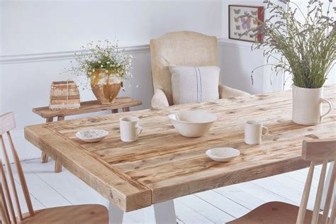 reclaimed wood table reclaimed wood rustic dining table