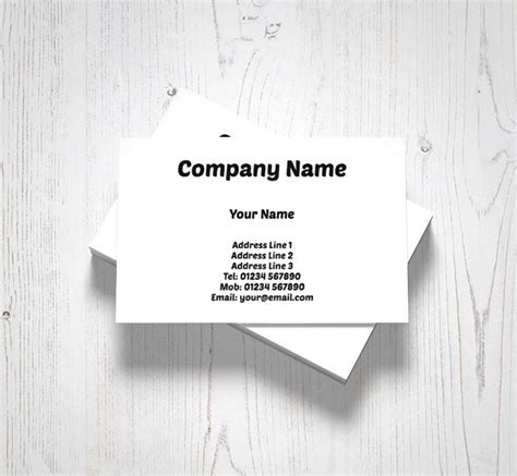free personal business card templates 4 popular samples templates