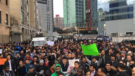 Uber Office Nyc by Nyc Uber Drivers Protest Rate Cuts Feb 1 2016