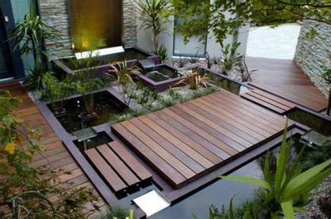 Decking Ideas For Small Gardens Small Garden Ideas Modern Wood Deck Ornamental Plants