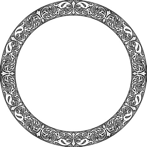 Vintage Circle clipart fancy vintage circle frame