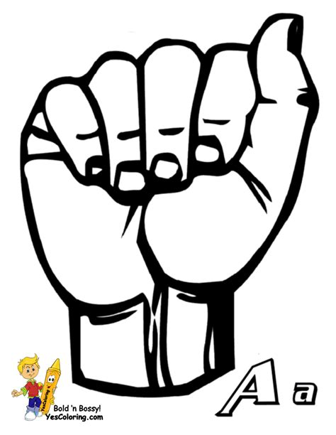 Asl Alphabet Coloring Pages | steadfast sign language alphabet coloring pages on