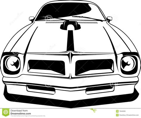 cartoon sports car black and white pontiac cartoons illustrations vector stock images 33