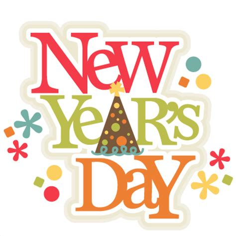 new year s day new year s day title scrapbook cut file clipart files