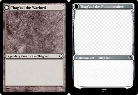 Planeswalker Card Template by Ymtc 17 Salvation Submissions Custom Card