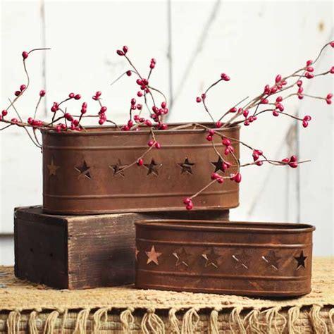 Primitive Planters by Primitive Tin Planters Baskets Buckets Boxes Home Decor