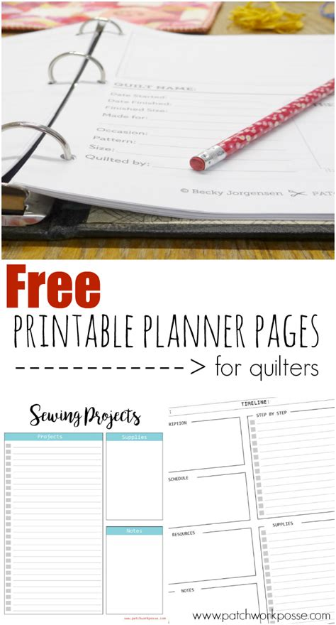 printable quilt planner the best printable planner pages for quilters
