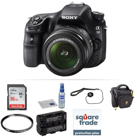 sony a58 sony alpha a58 dslr with 18 55mm lens deluxe kit b h