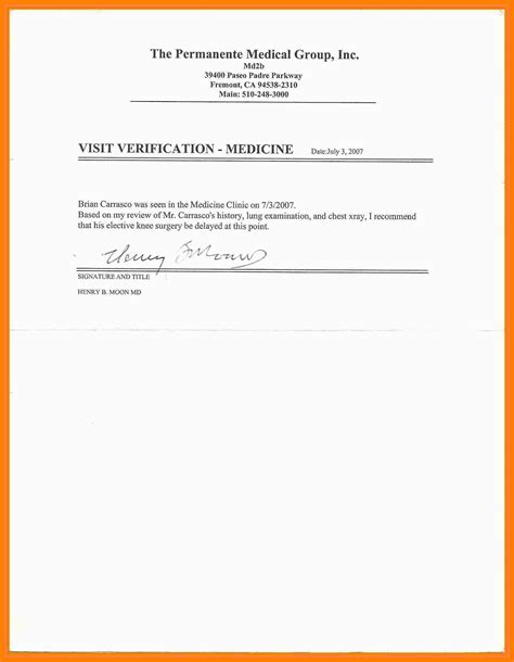 kaiser permanente resume format templates kaiser doctors note for work resume format