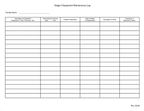 Log Sheet Template by Template Log Sheet Template