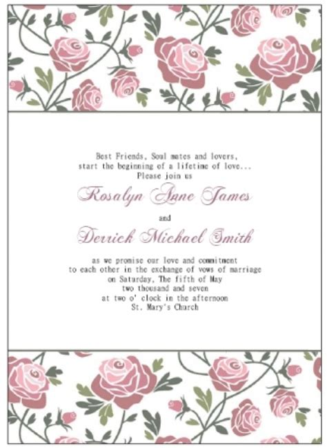 Blank Wedding Invitation Template Wblqual Com Wedding Invitation Template