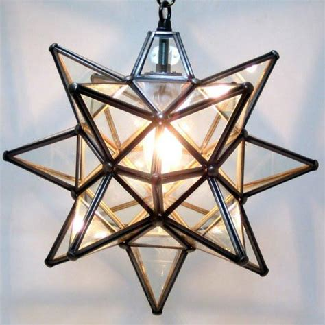 moravian clear glass star light lighting connection