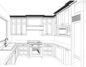 Kitchen Design Drawings by Kitchen Drawing Gallery