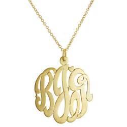 Monogram Pendant Monogram Necklaces For Christmas Ship Date Susans Jewelry Collection