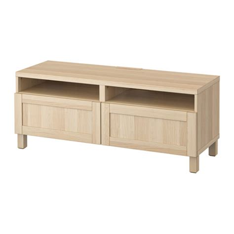 Bench Drawers by Best 197 Tv Bench With Drawers Hanviken White Stained Oak