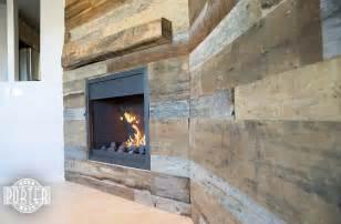 Modern Furniture Phoenix by Reclaimed Oak Mantel And Tobacco Barn Wood Wall Covering