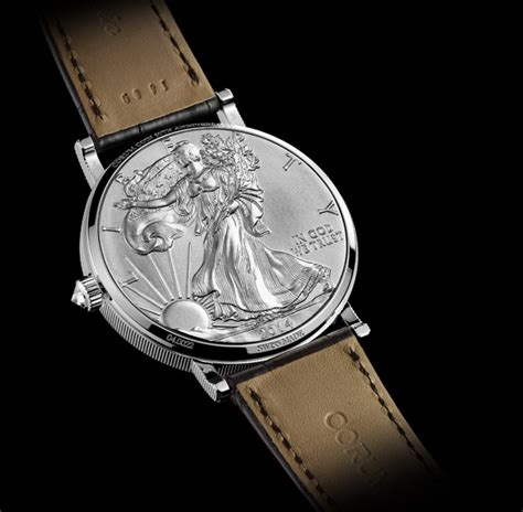 Automatic Silver Gold Cover Black Gold corum coin silver and gold to celebrate 50th