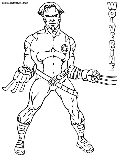 wolverine coloring pages wolverine animal easy coloring pages sketch coloring page