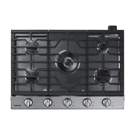 5 Burner Gas Cooktops Shop Samsung Premium 5 Burner Gas Cooktop Stainless Steel
