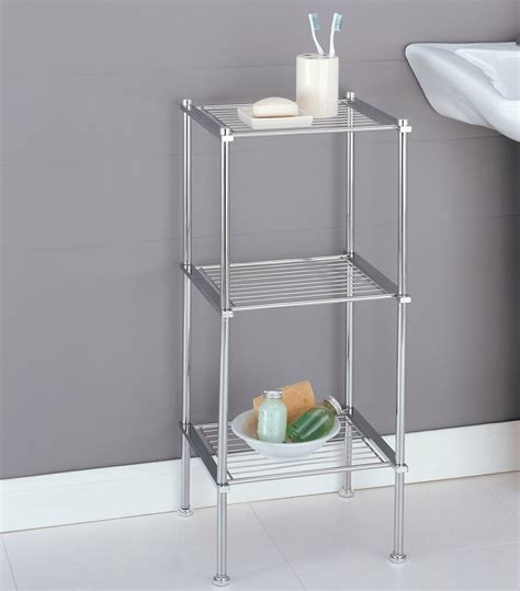 Tiered Bathroom Storage Three Tier Storage Shelf In Bathroom Shelves