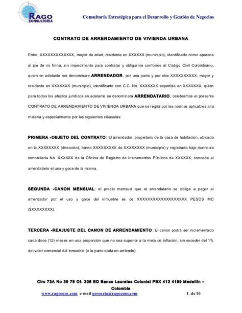 alza de arrendamiento de 2016 en colombia contrato de arrendamiento de vivienda urbana en colombia