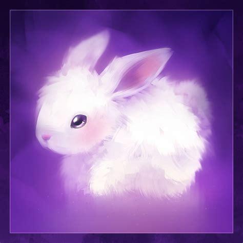 Purple Rabbit bunny illustration purple rabbit violet image
