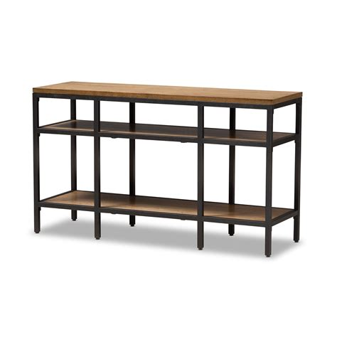 narrow metal sofa table black metal sofa table mill narrow console table cb2 thesofa