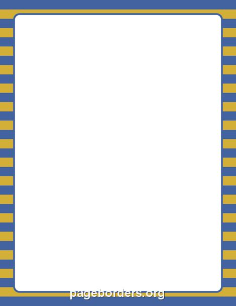printable blue striped border use the border in printable blue and gold striped border use the border in microsoft word or other programs for