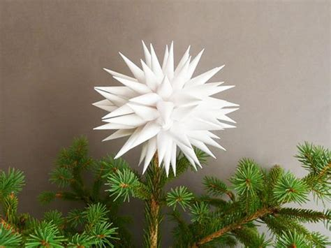 white tree topper modern tree topper by kissadesign