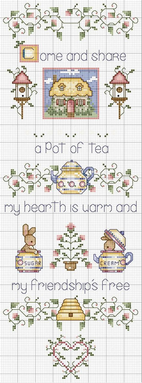 guid pattern xsd cross stitch tea friendship no color chart just use