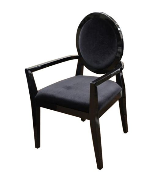 High Gloss Chairs by A X Lyle Transitional Black Fabric High Gloss Dining Chair