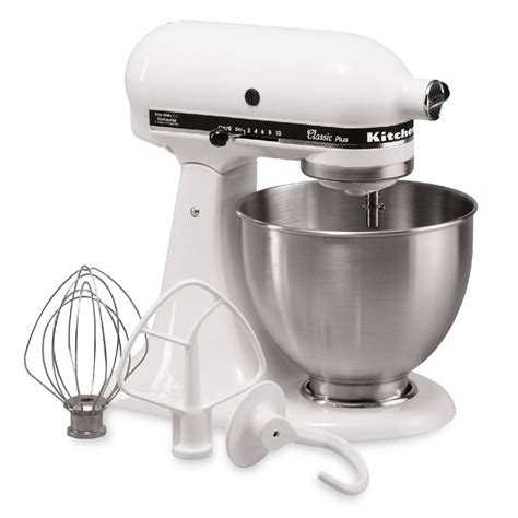 Shop KitchenAid Classic 4.5 Quart 10 Speed White Stand Mixer at Lowes.com