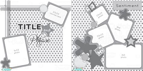 free layout sketch scrapbook layouts printable cuttable creatables