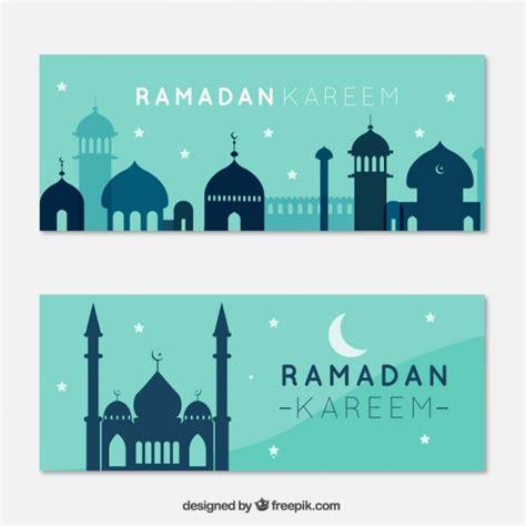 design banner ramadan ramadan banners with blue mo vector free download