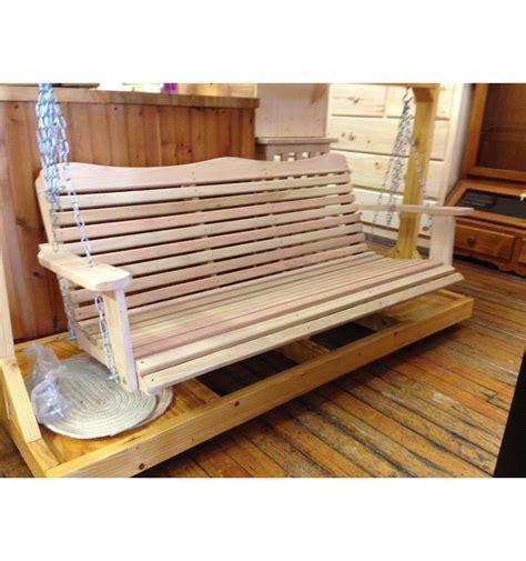 5 foot swing 5 foot cypress porch swing wood n things furniture