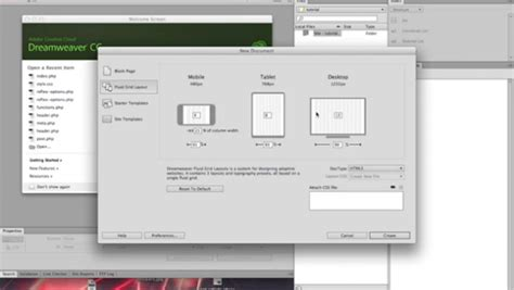 dreamweaver tutorial fluid grid layout using fluid grid layouts in dreamweaver creative beacon