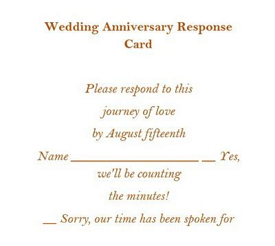 wedding response wording wedding anniversary rsvp cards free wording theroyalstore