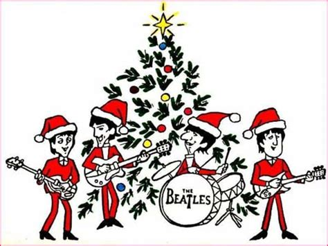 imagenes unicas de the beatles the beatles christmas album cartoon santa beatles