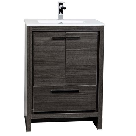 Bathroom Vanity Single Buy Cbi Enna 23 5 Inch Grey Oak Modern Bathroom Vanity Tn