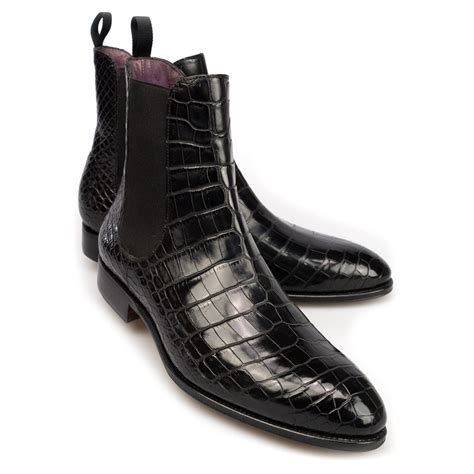 black alligator boots