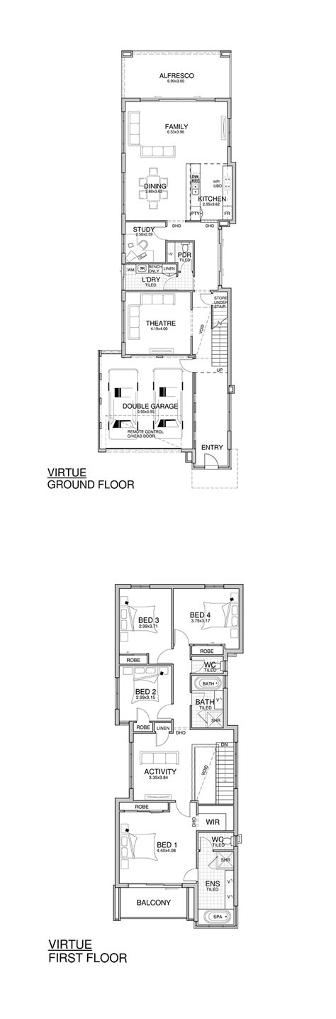 narrow home designs narrow lot homes perth 2 storey home design rosmond