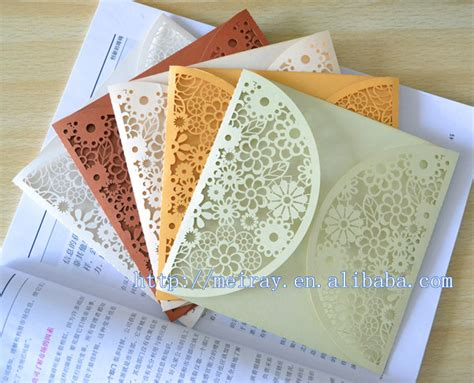 wedding invitation crafts laser cut paper crafts colorful wedding invitations