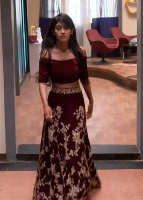 Naira Dress stylebuzz checkout shivangi joshi s majestic maroon
